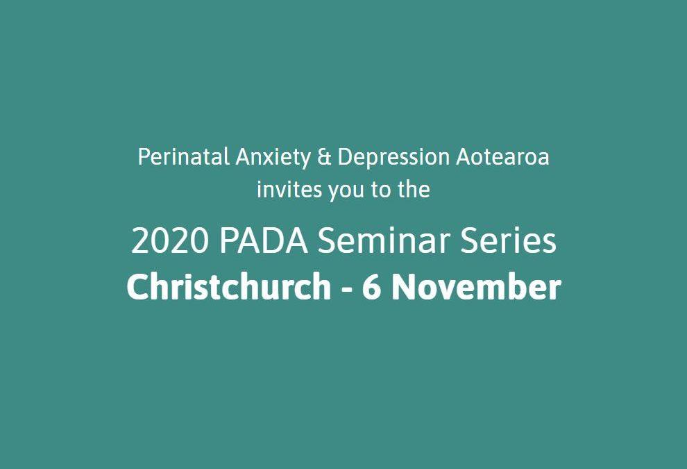 Christchurch PADA Seminar – 6 November 2020