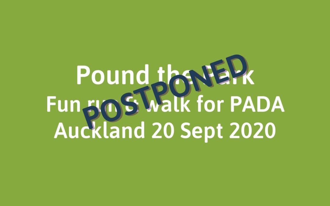 Pound the Park for PADA – Auckland – POSTPONED
