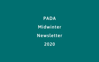 PADA Midwinter Newsletter 2020