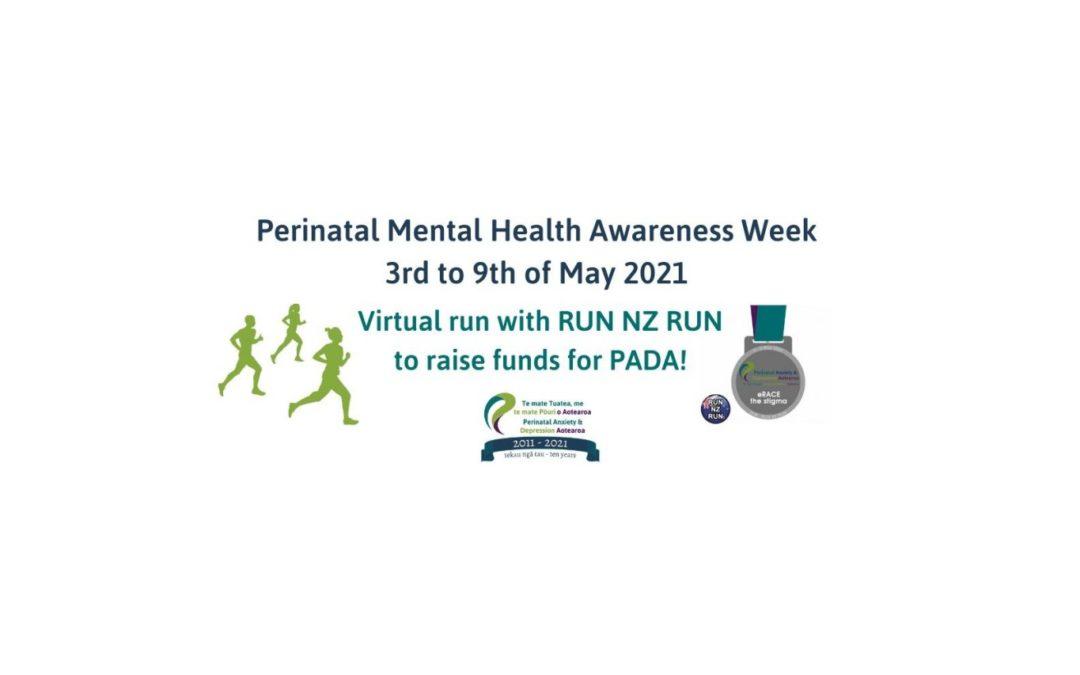 Run or Walk 5/10km for PADA in Perinatal Mental Awareness Health Week 2021