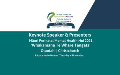 Keynote and Presenters 2021 PADA Māori Perinatal Mental Health Hui